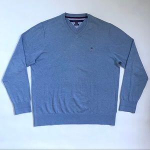 Tommy Hilfiger Sweater Blue Men's V-Neck Size XXL